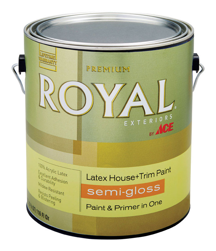 Ace Royal Exterior Acrylic Latex House Trim Paint Primer Semi Gloss 1 Gal Neutral Base Vshe1367150 159a340 6