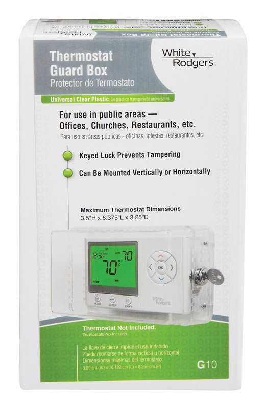 White Rodgers Thermostat Guard Wall Mount White